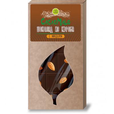 Шоколад из Кэроба необжаренного с миндалем, 85г.