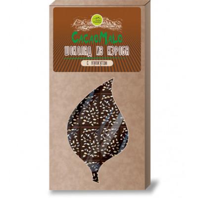 Шоколад из Кэроба необжаренного с кунжутом, 85г.