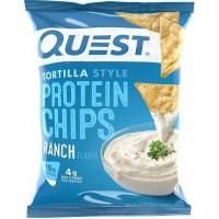 Протеиновые чипсы Тортилья-стиль с соусом Ранч, Quesn Nutrition, 32 г