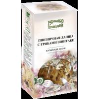 Пшеничная Лапша с Грибами Шиитаке КУХНИ МИРА Гурмайор, 220 г